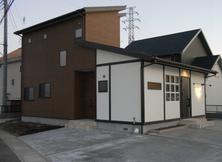 美容室を併用する住宅 外観